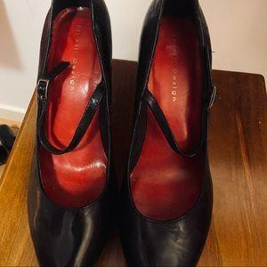 Lipstick Design Very High Black Heels Size 10